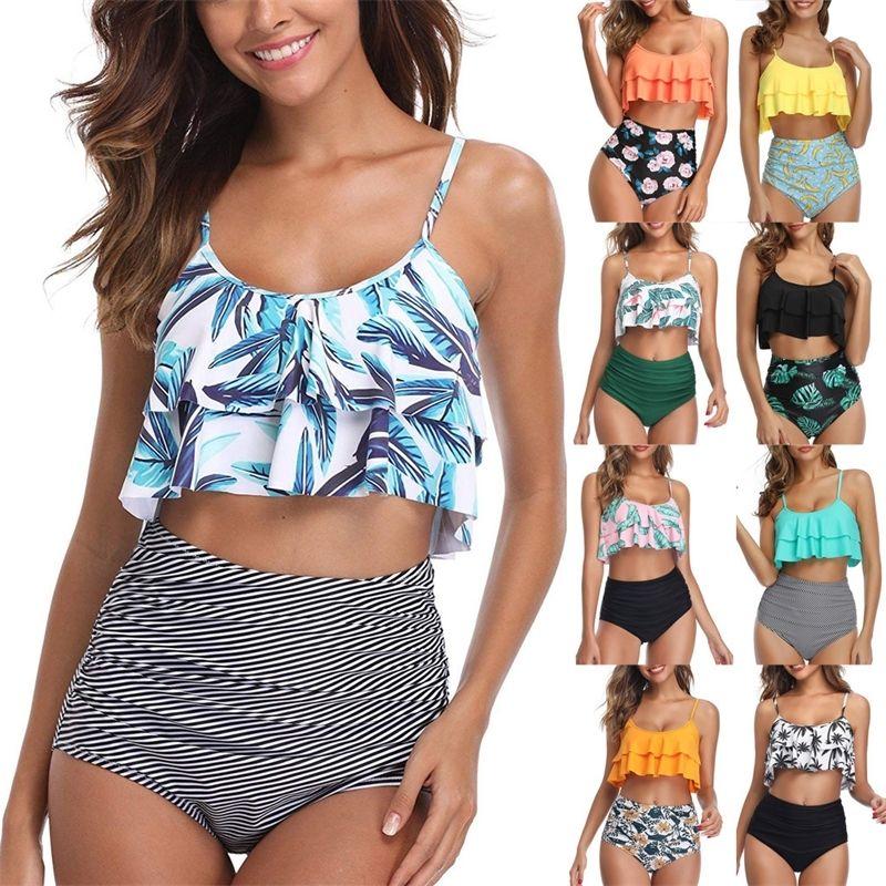 Sexy Bikini 2020 Mujer Купальники Женщины Бикиис Феминино Купальщики Купальники Купальники Beam Up Купальник Женский пляж Носить # J30