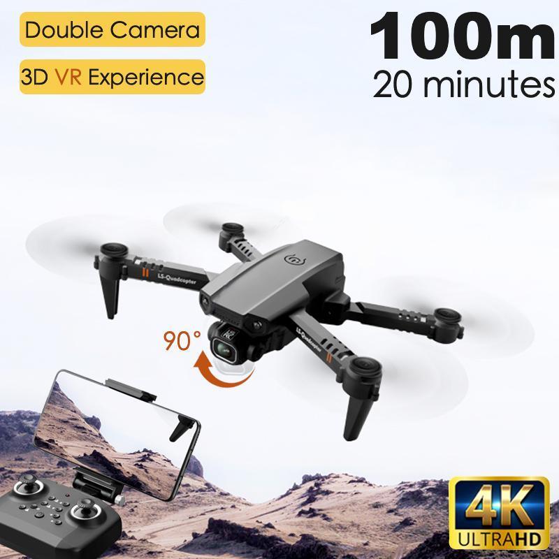 2020 Yeni XT6 Drone çift objektif 4k yüksek çözünürlüklü hava fotoğrafçılığı optik akış sabit yükseklik RC uçak çocuk oyuncakları