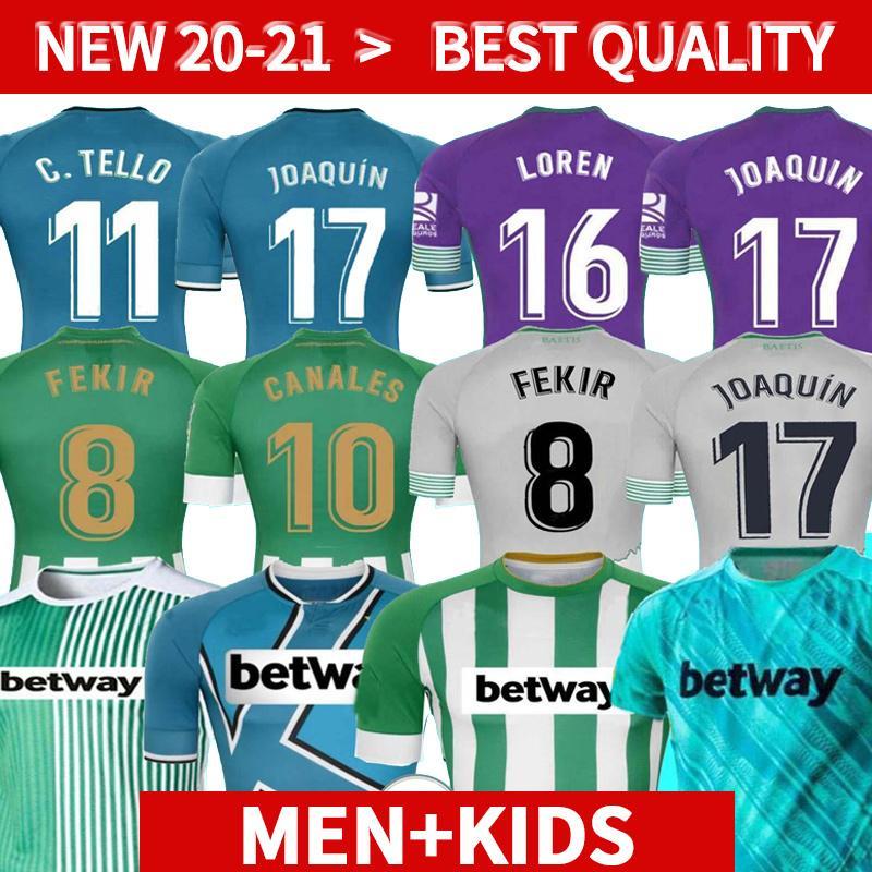 Mann + Kinder 20 21 echte Betis Fußball Jersey Joaquin Loren Boudebouz Barrtra Home 3. 4. Trainingsanzug Gekürtung Ausgabe Fekir 8