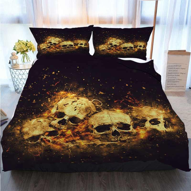 3D Printed Merry Christmas Bedding Set Skulls And Duvet Cover Designer Bed Comforters Sets