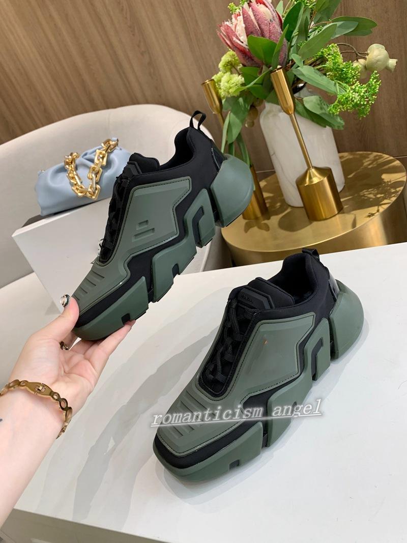 Prada Shoes Menand Kadınlar Düşük En İyi Rahat Ayakkabılar Lates Lates Cloudbust Thunder Serisi Üçgen Desen Naylon Yüksek Kalite Tasarım Sneakers Ayakkabı Kutusu Ile Ayakkabı
