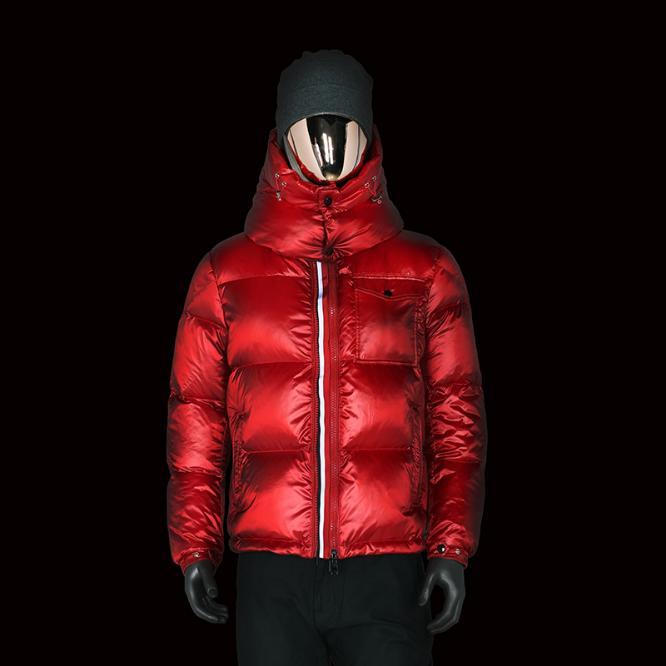 Top-Qualität Windsicher unten mit Kapuze Winter 90% weiße Gänsedaunen-Jacke warmen Mantel Man Ultraleicht-Jacke Männer Winddichtes Parka puffern Jacke