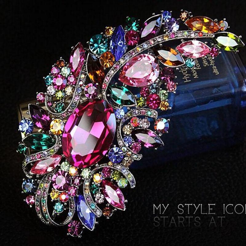 5-дюймовый огромный размер Элегантный роскошный Разноцветный Rhinestone Кристалл Diamante большой подарок броши 10 цветов Доступные