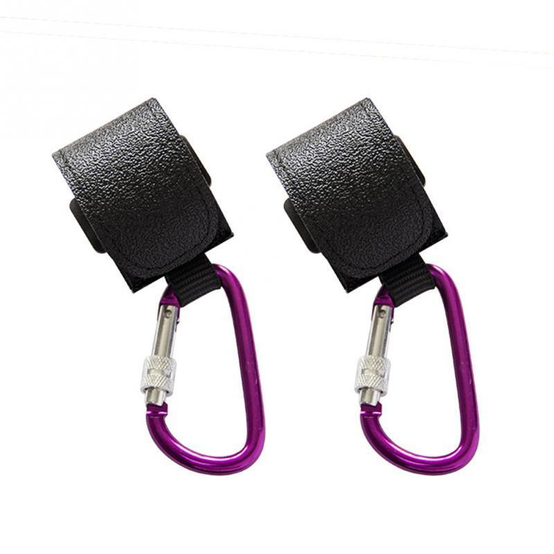 Stroller Parts & Accessories 2pcs Baby Bag Holder Hook Clasp Clip Aluminum Alloy D-shape Carabiner Load-bearing Buckle For Hanging Diaper Ha