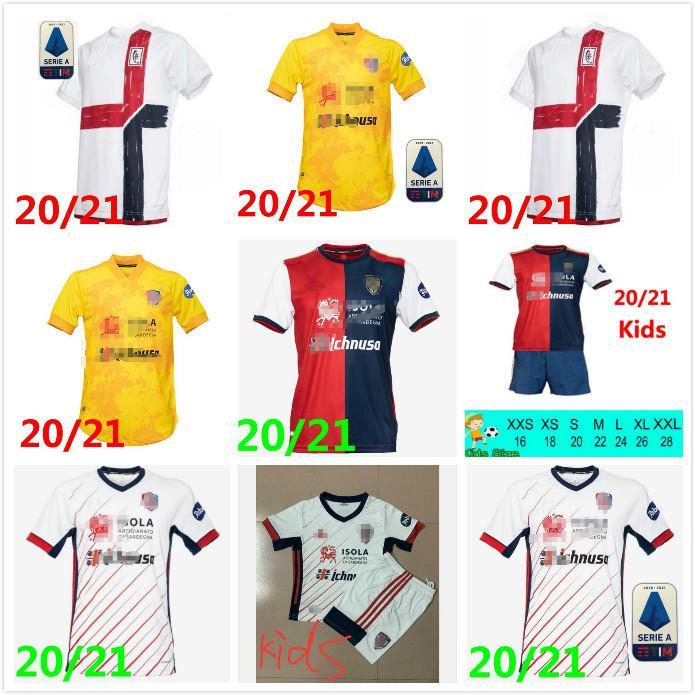 20 21 Cagliari Calcio Soccer Jersey 2020 Cerri Joao Pedro Edition limitée Nainggolan Nandez Pavoletti Anniversaire Chaud Shirt de football