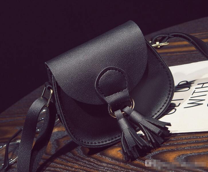 Mini borse a spalla in età prescolare ragazze dei bambini dei capretti bambino nappa Fashion Bag Piccoli sacchetti del messaggero della borsa per