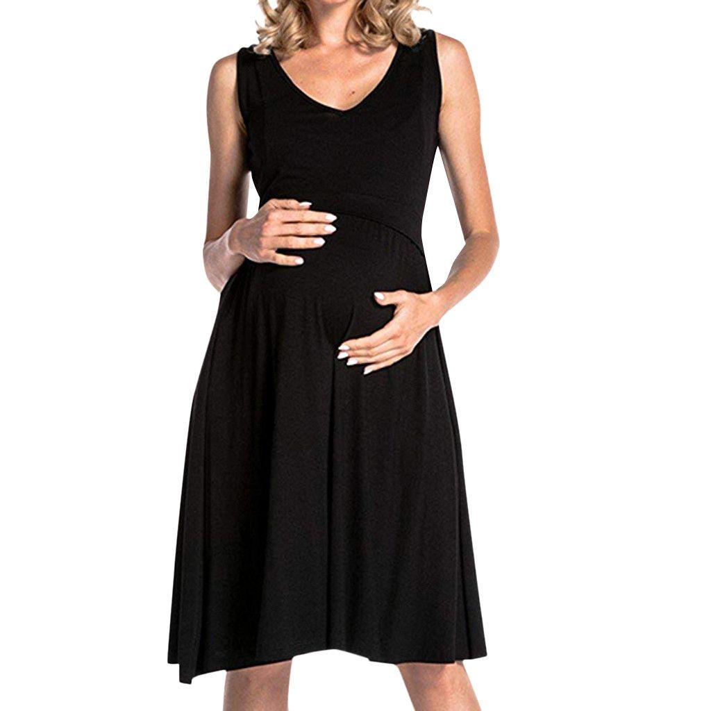 Women's Maternity Breastfeeding Nursing Nightgown Summer Dress Sleepwear Pregnant Casual Clothes