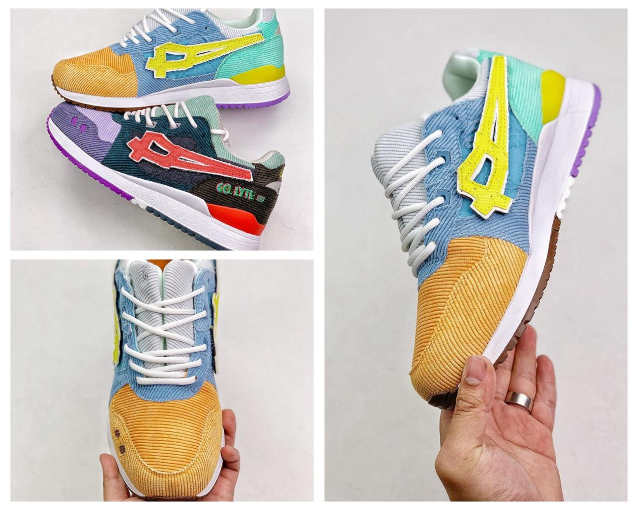 Gel-Lyte III Sean Wotherspoon Atmos Shoes Running Shoes Boys Girls Gel Lyte III 3.0 Zapatillas de deporte Multi Color Tamaño 36-44