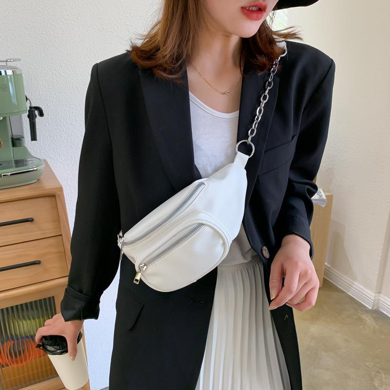 Moda Bolsas Mulheres Crossbody Peito Bag Bolsas Bolsas 2021 para Satchel PU Belt Bags Cintura Feminina Sela Feminina Designer Telefone GLCPV