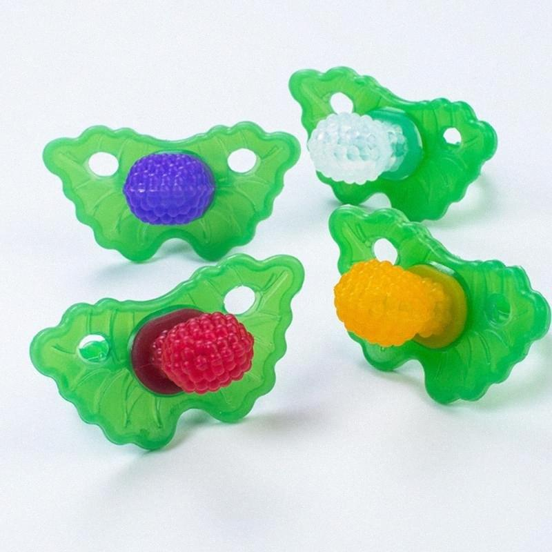 Lustige Frucht-Baby-Schnuller Silikon-Baby-Nippel Schnuller Toddler Nippel Beißring newborn Clips Nippel Baby Care LrNm #