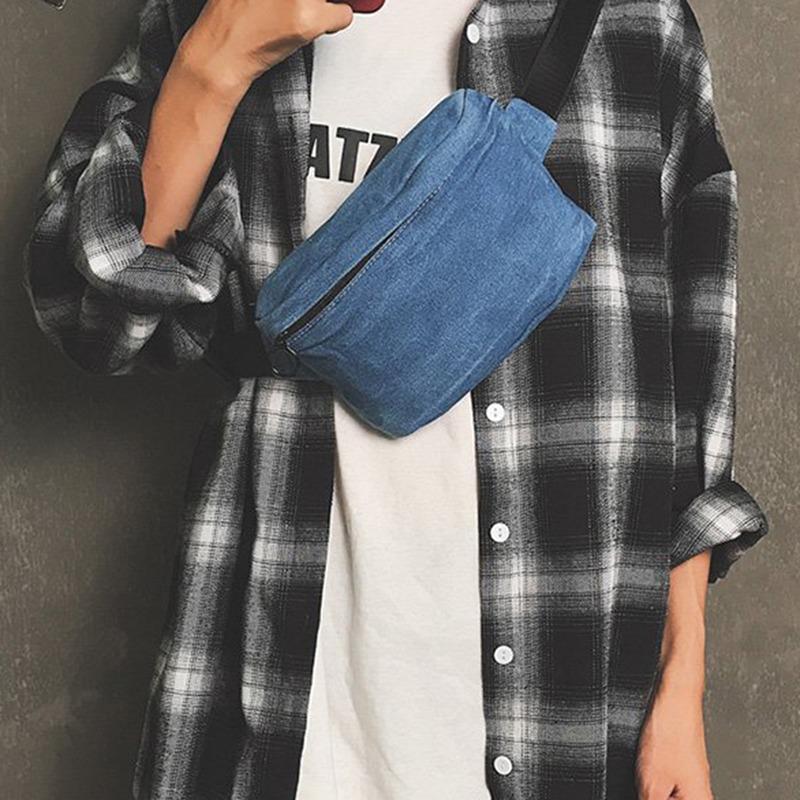 Moda Mujeres Casual Denim Bags Ladies Crossbody Bolsos Linda Lady Canvas Girls Unisex 2021
