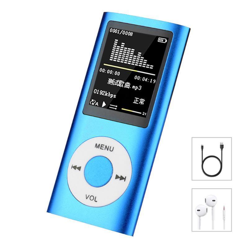 Hifi Mini-MP3-Player Musik Sports Walkman mit Kopfhörer Fm Radio 1.8 Zoll TFT LCD Schirm 16gb 32gb 64gb Micro SD-TF-Karte