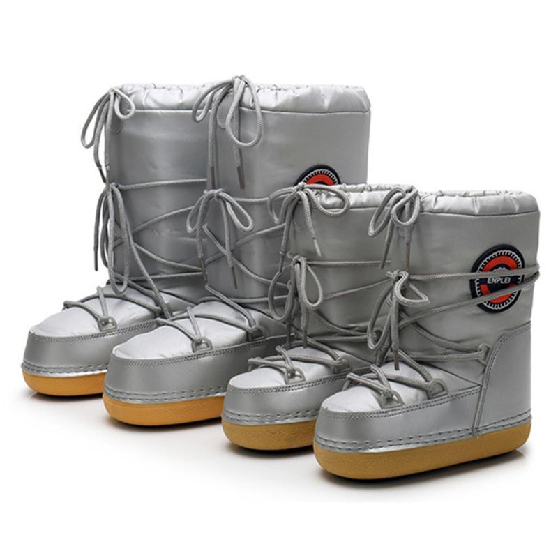 Meninas pai-criança meninos sapatos crianças criança criança quente mulher inverno impermeável esqui espaço botas 201130