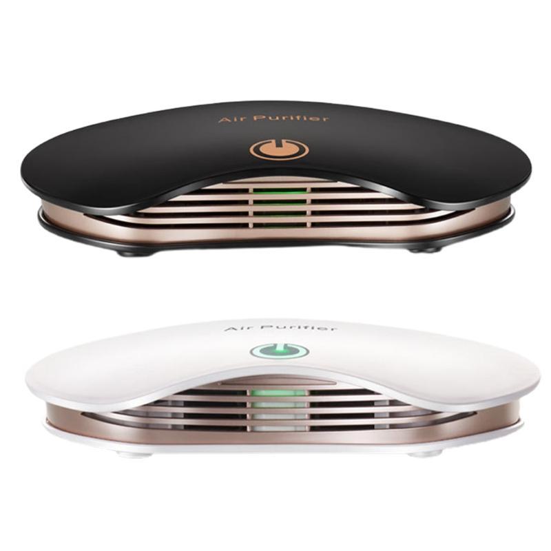 Портативный автомобильный очиститель воздуха отрицательный ионный воздухоочиститель воздушного отверстия с фильтром удалить PM2.5 формальдегид для домашнего офиса рабочего стола