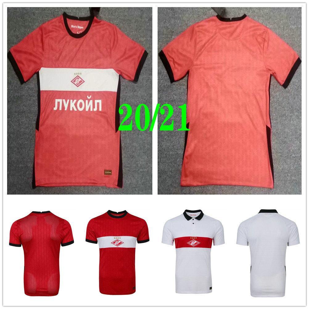 2020 2021 سبارتاك موسكو لكرة القدم الفانيلة PROMES باكاييف ZOBNIN SCHURRLE DZHIKIYA TIL بونس CALCIO مخصص 2021 الرئيسية الأحمر لكرة القدم قميص الزي الرسمي