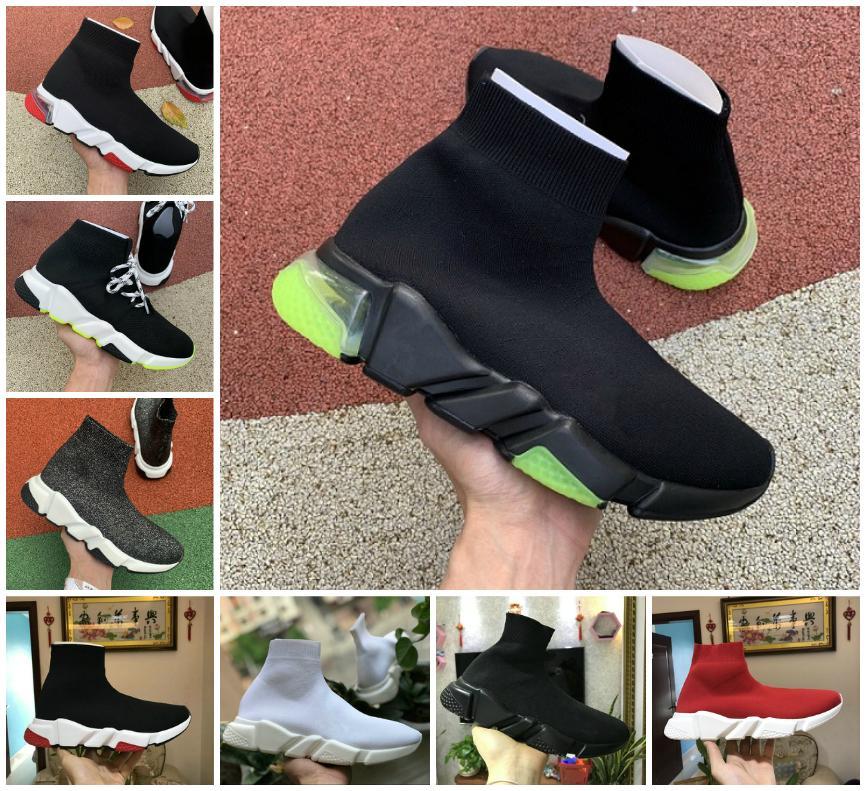 2021 جورب الأحذية سرعة المدرب الرجال النساء أحذية رياضية الثلاثي الأسود الأحمر الأبيض البيج الوردي clearsole رجل الأزياء عارضة تنس الأحذية الركض المشي