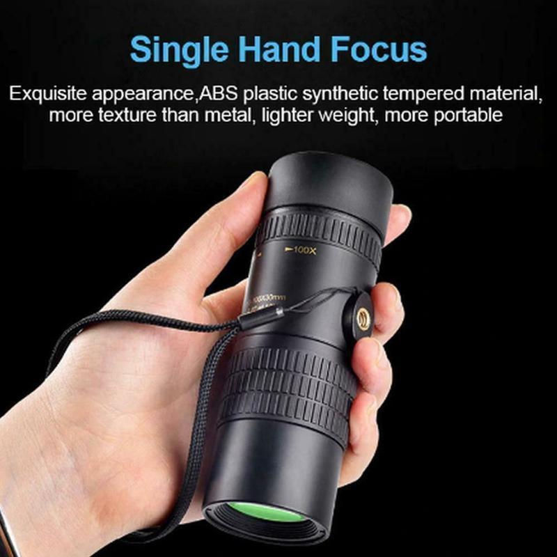 10-300X40mm 4K super téléobjectif Zoom télescope monoculaire Caméra mobile portable objectif avec clip trépied Accessoires pour téléphones