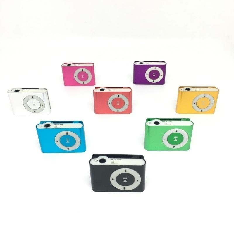 Mini Clip MP3 player with 8 Colors Little Items without Screen Support Micro SD TF card No built-in momery