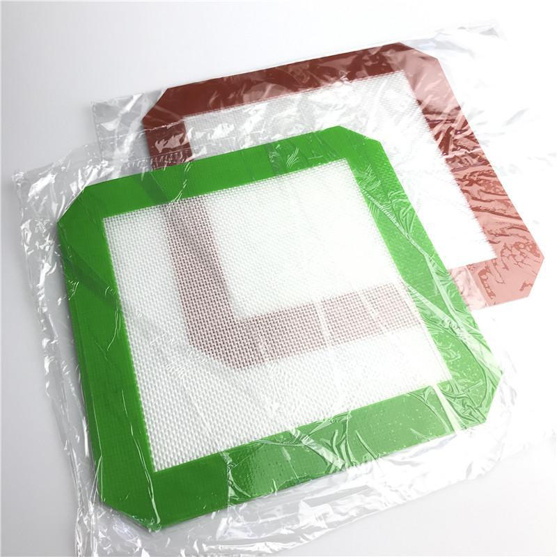 20 cm l Bunte Silikonmatte Non-Stick-Hukahn-Kunststoff-Wachs-Öl-Dab-Ding-Tal-Backmatten für Glasbong-Wasserleitungen Rauchen