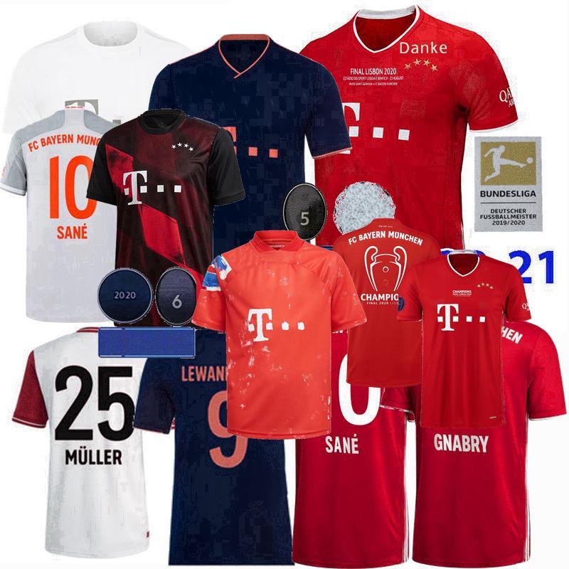 2019 2020 2021 FC Bayern München Fußball-Trikots PAVARD NEUER MÜLLER LEWANDOWSKI THIAGO SANE 120 Jahre 20 21 Fußballhemd 4xl