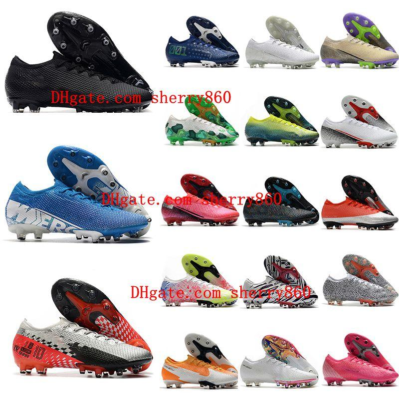 2020 orjinal futbol krampon Mercurial Superfly 13 Elite AG botas de futbol Düşük CR7 neymar ronaldo erkek futbol ayakkabıları ucuz futbol ayakkabıları
