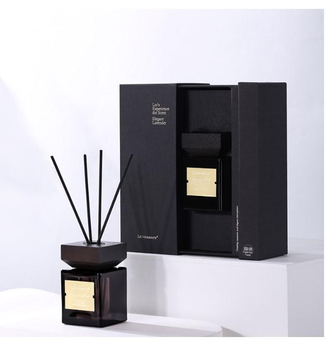 Set de regalos de Liuyujuan Pavelan. Aromatherapy Hotel Home Fragrance Cubierto de madera Rattan No-Fire Aceite Esencial Custom