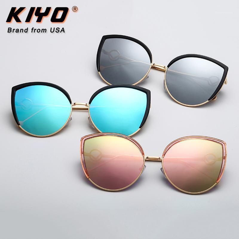 KIYO Brand 2020 New Women Polygonal Polarized Sunglasses Metal Fashion Sun Glasses High Quality UV400 Driving Eyewear 0037641