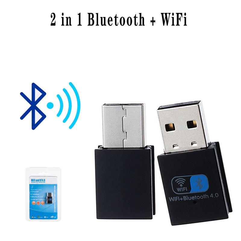 Два в одном Bluetooth + WIFI беспроводной сетевой карты 150M Wifi приемник + 4,0 Bluetooth адаптер передатчик Бесплатная доставка