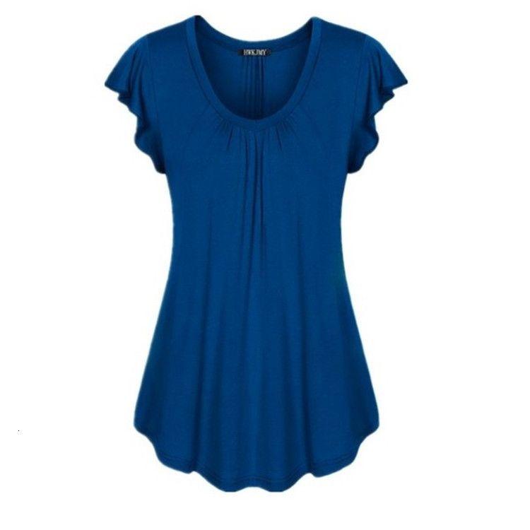 Neck 2019 Women's Round Irregular Skirt Loose T-shirt Lotus Sleeve Dress