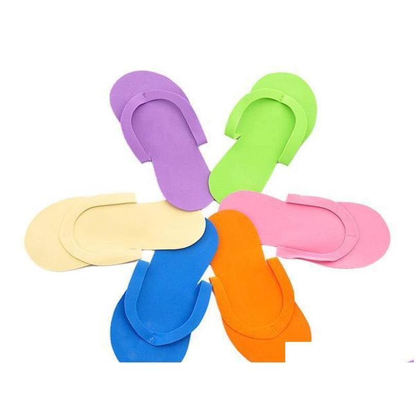 Wholesale-free Shipping 100pcs/lot Disposable Slipper / Eva Foam Salon Spa Slipper / Disposable Pedicure Thong S qylPli sweet07