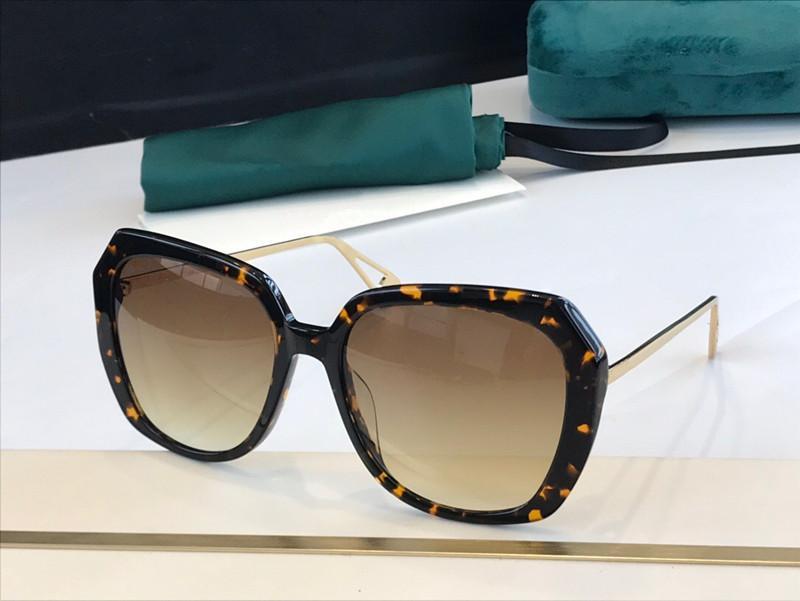 0916 Lunettes de soleil pour femmes neuves et les plus populaires Plaque supérieure Plein cadre de qualité supérieure Protection UV Lieu de protection irrégulière Cadre UV400 Lens Send Boîte