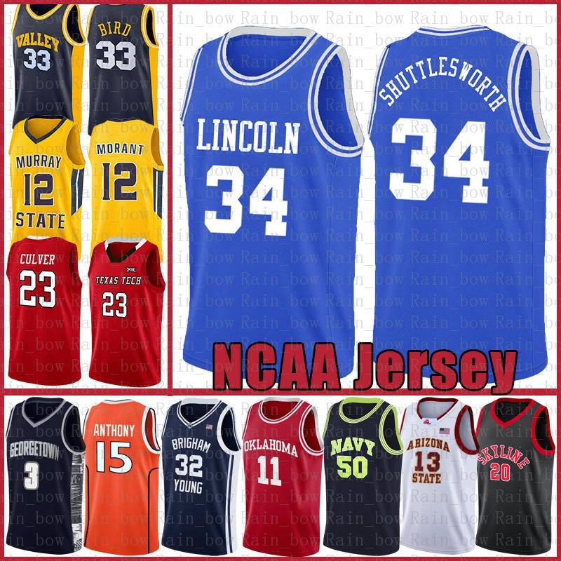 NCAA Jesus 34 Shuttles-Worth Ncaa Lebron 23 James Kyrie Dwyane 3 Wade Irving University Stephen 30 Curry Gary 20 Payton Basketball Jersey Ba