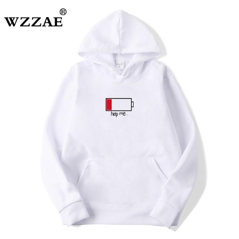 WZZAE Niedrig Helfen Sie mir Hoodies Männer 3D Kreative Mit Kapuze Sweatshirts Mode Streetwear Hip Hop Schwarz Hoodie Male Plus Größe S-XXL T200103