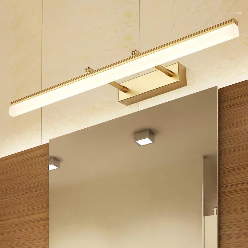 Espejo delantero LED LED Cuarto de baño Gabinete Mueble Faro Moderno Impermeable Anti-Fog Ajustable Dormitorio Wall Sconce MX61816131