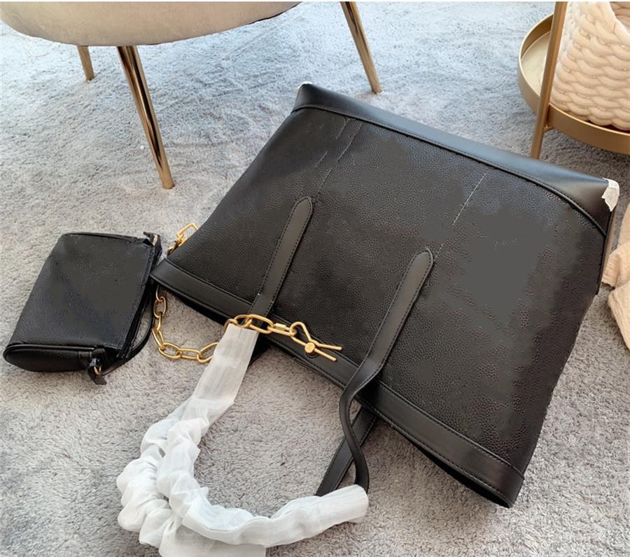2 teile / satz Klassische weibliche Womens Handtaschen Flower Damen Tote Schulter Designer Clutch Composite Seriennummer11 Geldbörse mit Brieftasche Taschen Le Micb