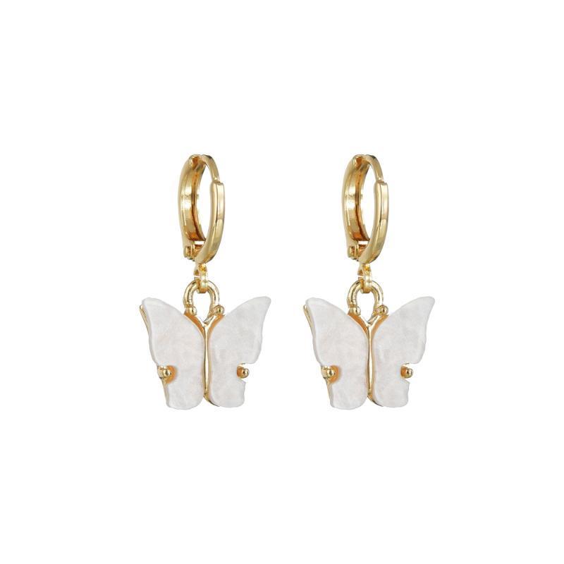 Люстра свисалка uam весна прекрасный золотой цветных правил геометрические маленький бабочка животных смолы капля серьги для женщины классические ювелирные изделия