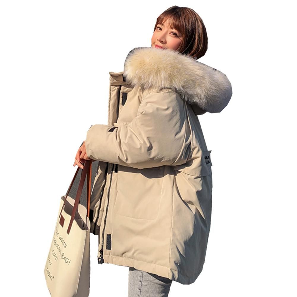 Winter Women Coat Jacket Parkas new thickening loose wind cotton padded 1813 201014