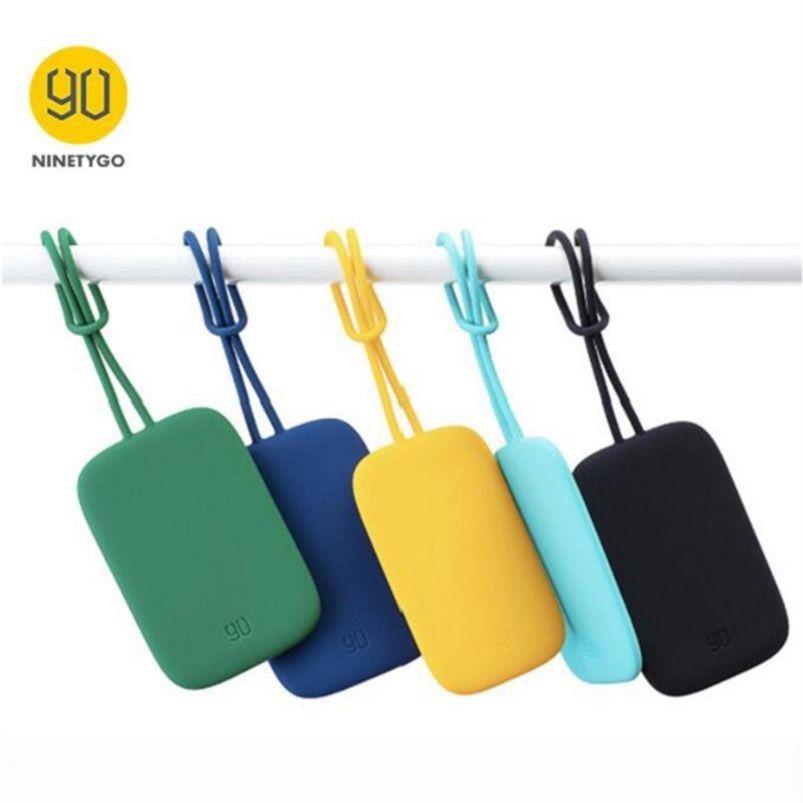 Orijinal Nineto 90Fun Renkli Silikon Bagaj Etiketi Taşınabilir Bavul Bavul Çanta Tag Anti-kayıp Yazma Etiket Çantası Parçaları Aksesuarları