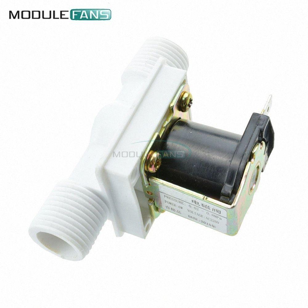 """J34 220V AC Elektromagnetventil Magnetische N / C-Wasser-Luft-Einlass Flow Switch N / C 1/2"""" 8xMB #"""