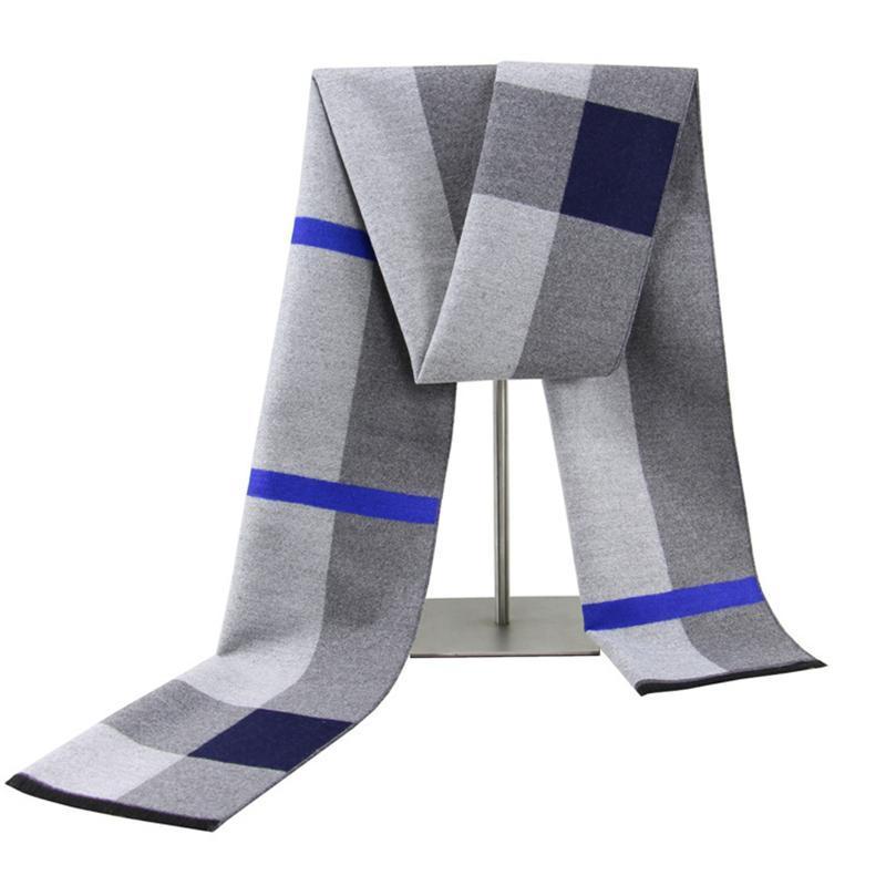 Schal für Männer, Schal Männer, warmer Schal Männer, koreanischer Plaid Schal, Männer