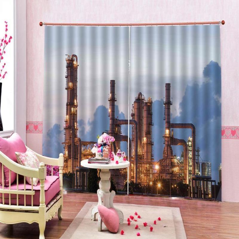 Cátrina de cemento personalizada de la planta de la planta de la planta de cemento para la cortina de la ventana de la sala de estar de la sala de estar de la sala de poliéster apagón drapes decoración conjuntos de decoración