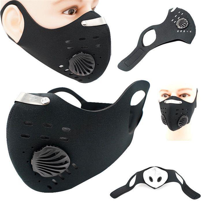 Farben 4 Sport-Gesichtsmaske mit Filter Aktivkohle PM 2.5 Anti-Pollution Running Training Rennrad Radfahren Mask