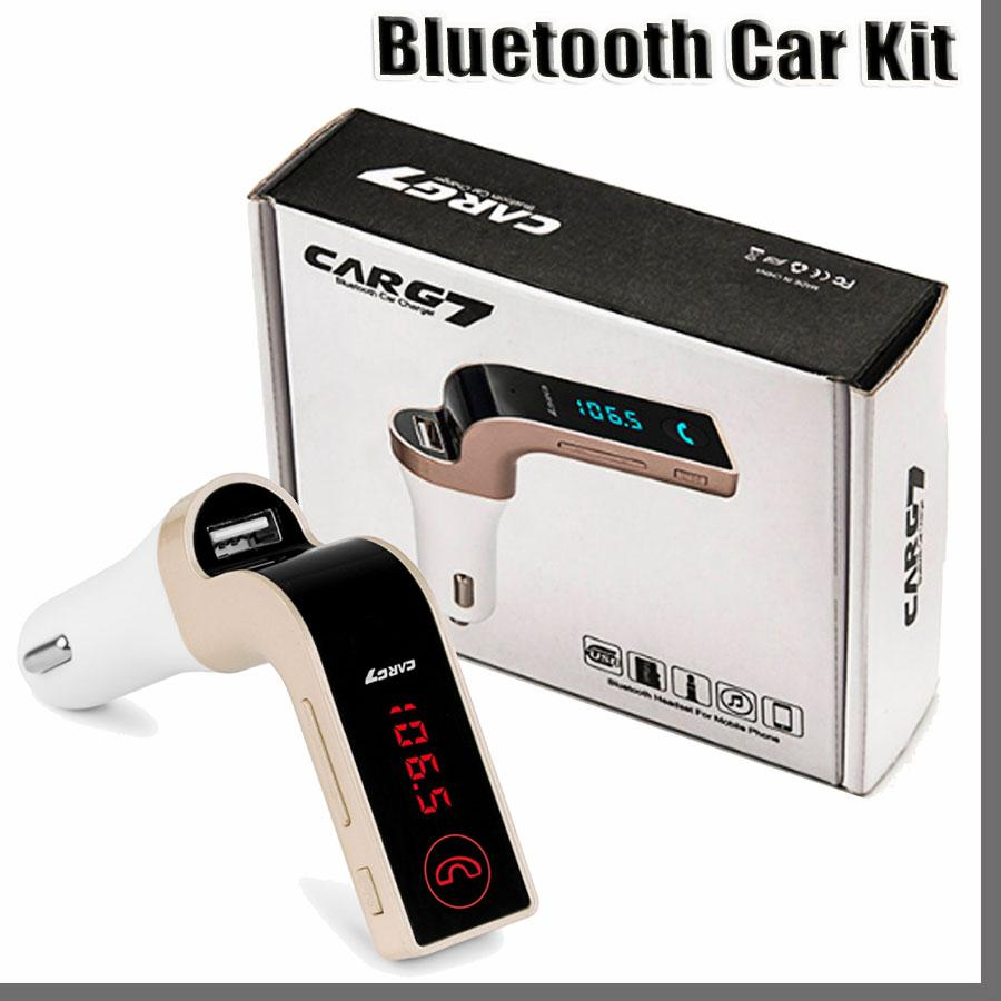 168 4 IN 1 G7 Car Wireless Bluetooth MP3 FM Transmitter Design Modulator 2.1A Car Charger Wireless Kit Support Hands-free Micro SD TF