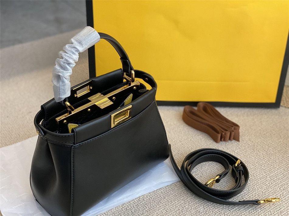Nova textura suave Zipper Partition Bolsa Feminina Moda Premium Ombro Bolsas De Couro Preto 23 * 18cm