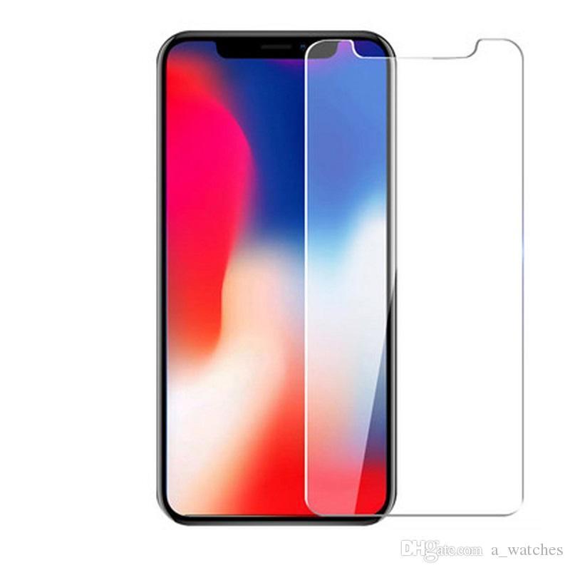 2.5D 9H Paquete de papel Super Durness Protector de pantalla de vidrio templado real para iPhone12 / 12 PRO / XSMAX / 6 / 6S // 7 / 8x / XS