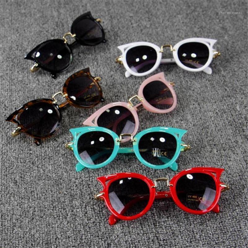 2020 neue retro katze augen kinder sonnenbrille baby wild britisch stil metall sonnenbrille frauen männer retro marke sonne gläser für party1