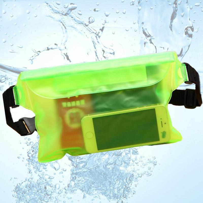 Водонепроницаемый Лыжный Дрифт Дайвинг Плавание Подводная сумка Сухое плечо Талия чемоданчик Карманный чехол для Iphone 6 7 Крышка случая / камеры