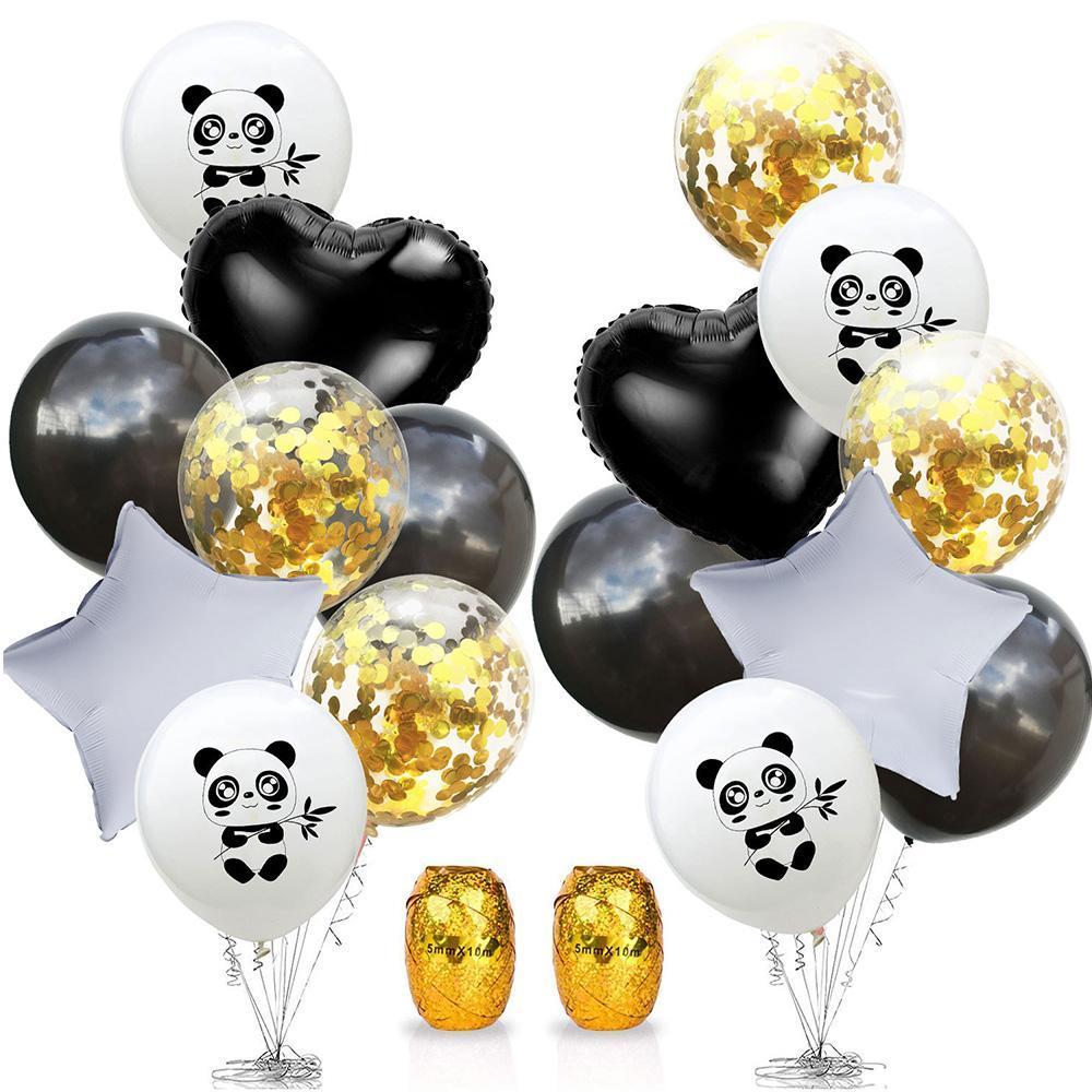Amawill Cartoon Animal Cute Panda Foil Latex Balloons Diy Festival Birthday Decorations Jungle Party Baby Shower Favor Kids Toys wmtyvd