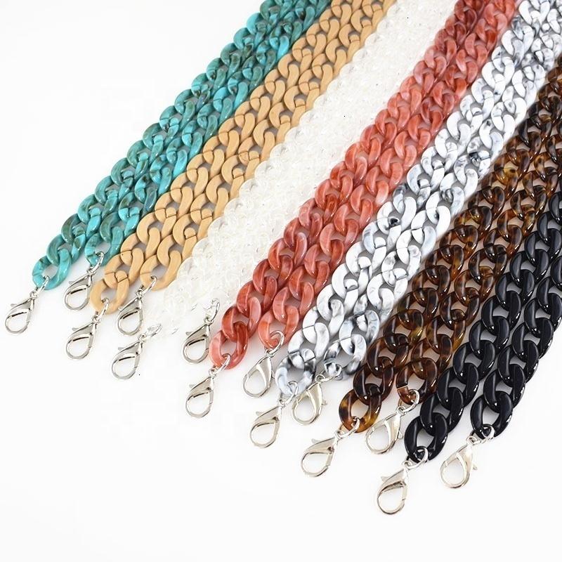 Sac à main en résine acrylique en plastique B-C007 chaîne ajustable Resiférable Sac de bracelet en cuir Sac Sac à bracelet Colorbelt CW1J