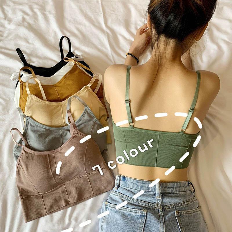 U-shaped costas sutiã tubo top mulheres colheita superior margarida padrão sexy lingerie sutiã esportes rua streetwear sem mangas camis sem emenda